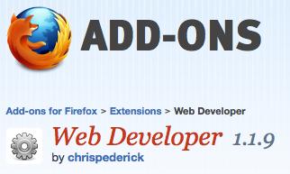 Firefox Web Developer Toolbar