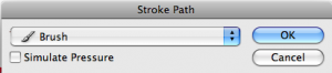 Brush Stroke Dialog Box